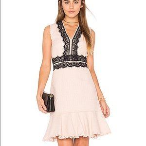 Rebecca Taylor Sleeveless Tweed Lace Dress